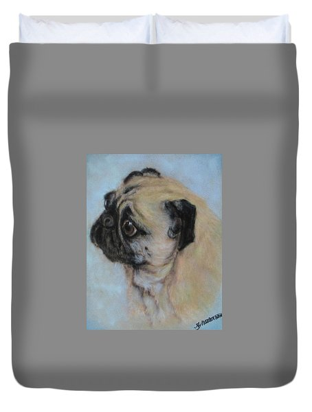 Pug's Worried Look Duvet Cover