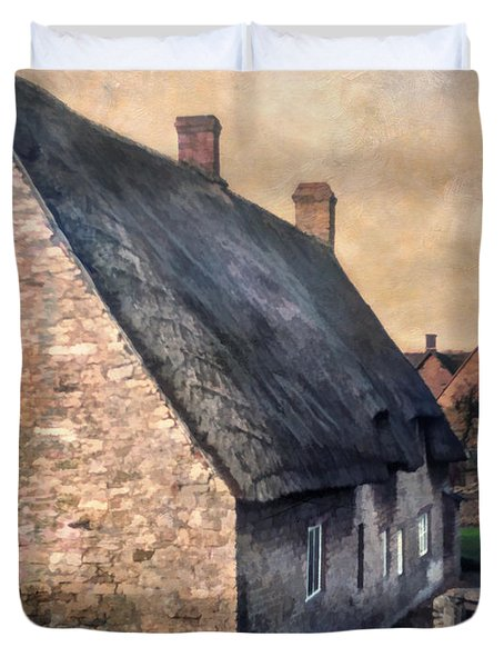 Thatch Roof Cottage Duvet Cover