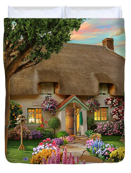 Thatched Cottage Duvet Cover by Adrian Chesterman