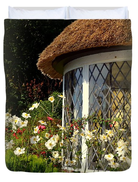 Thatched Cottage Window Duvet Cover