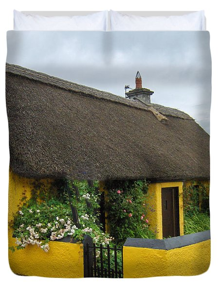 Thatched House Ireland Duvet Cover by Brenda Brown