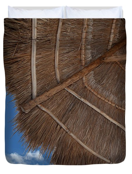 Thatched Umbrella Duvet Cover