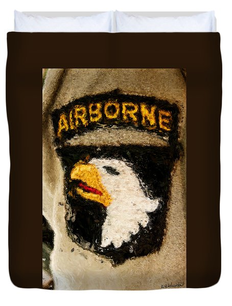 The 101st Airborne Emblem Painting Duvet Cover