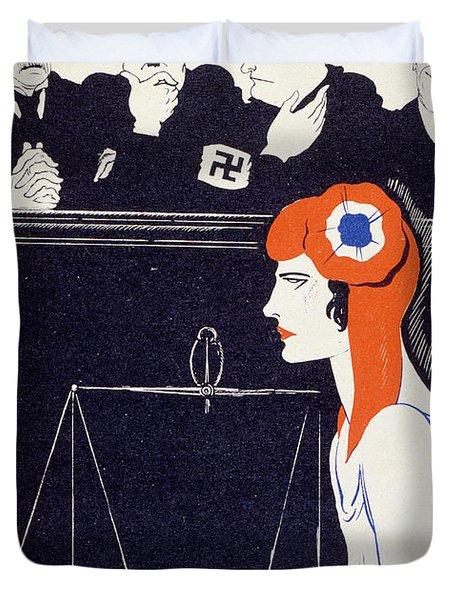 The Accused Duvet Cover by Paul Iribe