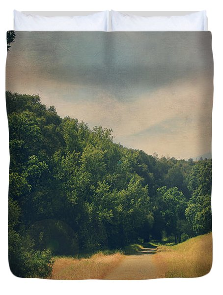 The Adventure Begins Duvet Cover by Laurie Search