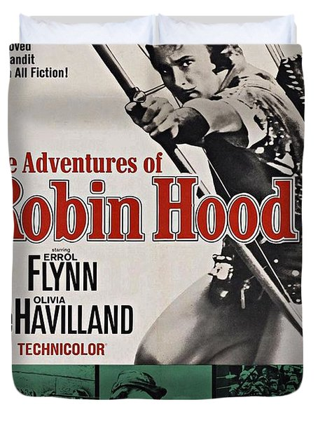The Adventures Of Robin Hood B Duvet Cover