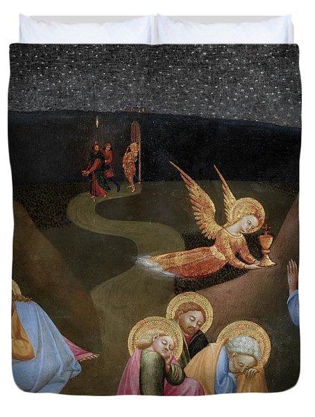 The Agony In The Garden Duvet Cover by Stefano di Giovanni di Consolo