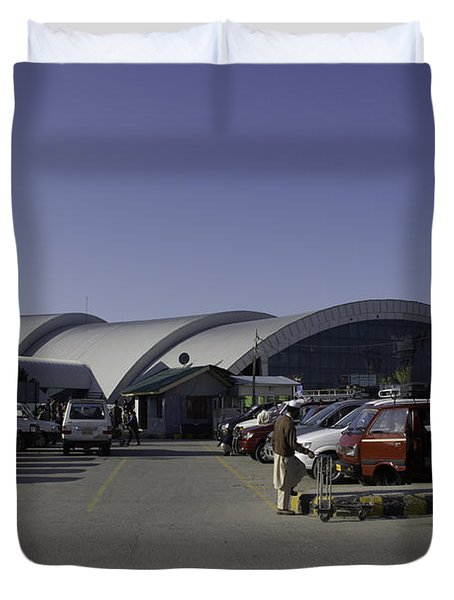 The Airport In Srinagar The Capital Of Jammu And Kashmir Duvet Cover by Ashish Agarwal