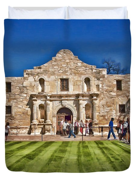 The Alamo Paintography Duvet Cover