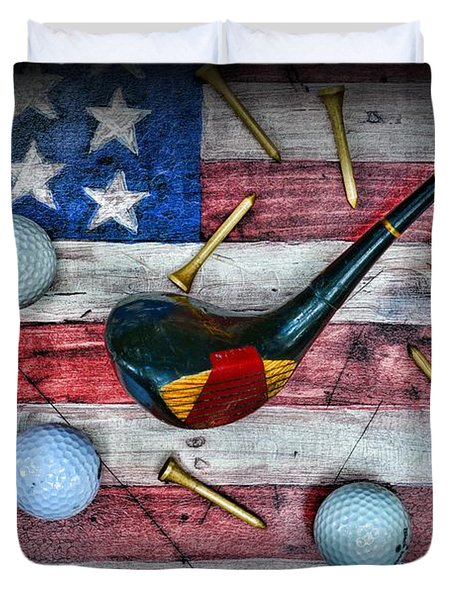 The All American Golfer Duvet Cover