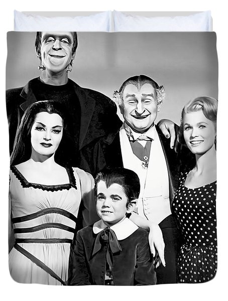 The All American Munsters Family Duvet Cover
