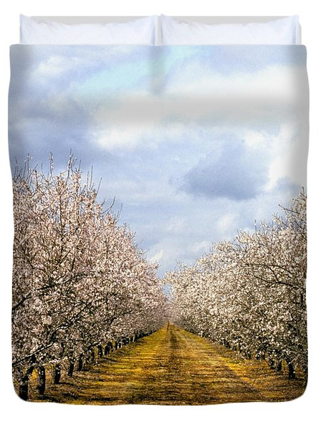 The Almond Orchard Duvet Cover