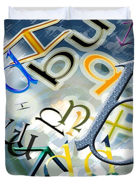 The Alphabetics Duvet Cover