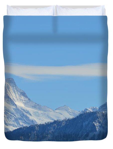 The Alps In Azure Duvet Cover