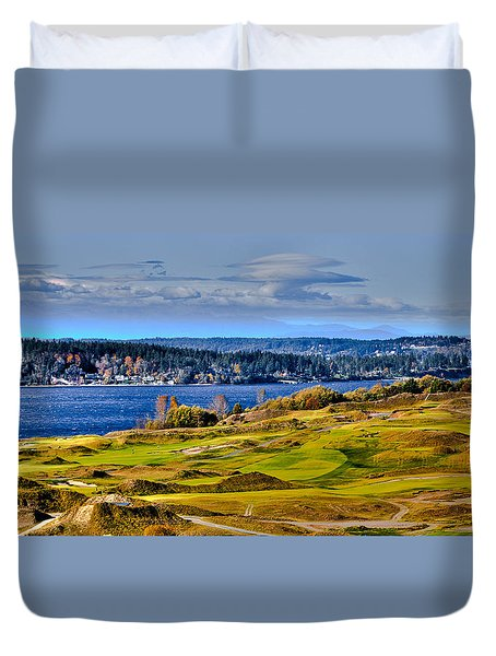 The Amazing Chambers Bay Golf Course - Site Of The 2015 U.s. Open Golf Tournament Duvet Cover by David Patterson