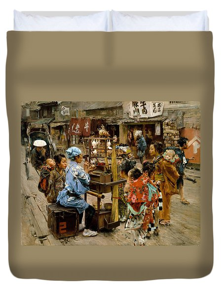 Duvet Cover featuring the painting The Ameya by Robert Frederick Blum