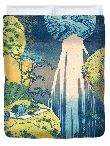The Amida Falls In The Far Reaches Of The Kisokaido Road Duvet Cover