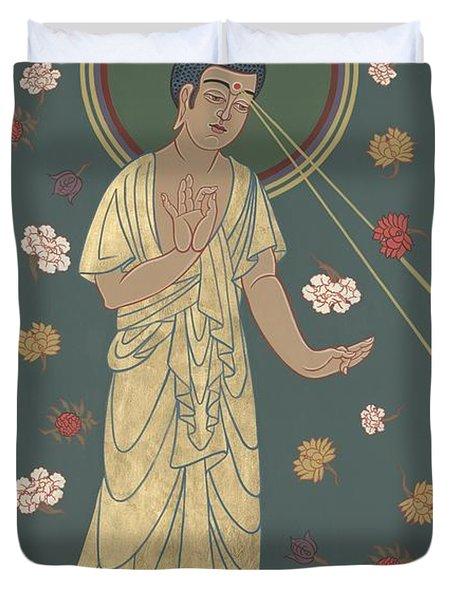 The Amitabha Buddha Descending 247 Duvet Cover