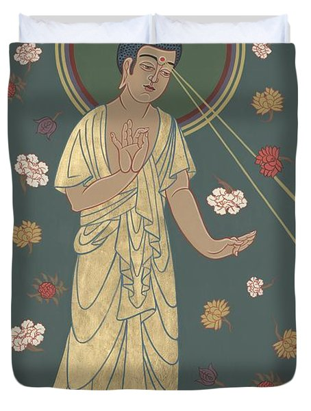 The Amitabha Buddha Descending 247 Duvet Cover
