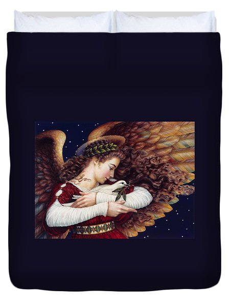 The Angel And The Dove Duvet Cover