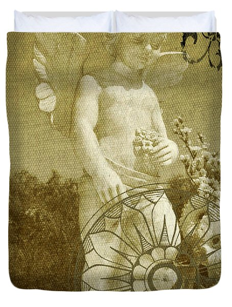 The Angel - Art Nouveau Duvet Cover by Absinthe Art By Michelle LeAnn Scott