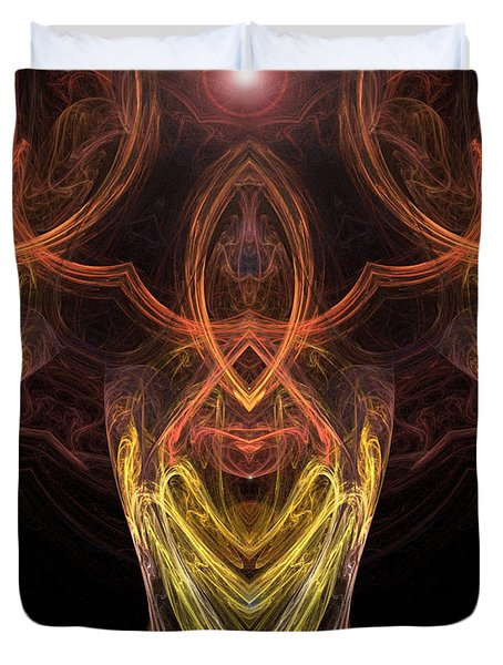 The Angel Of Meditation Duvet Cover