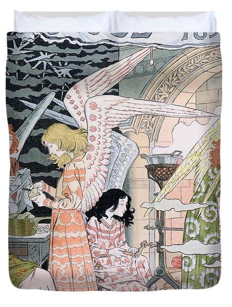The Angels Kitchen Duvet Cover by Eugene Grasset