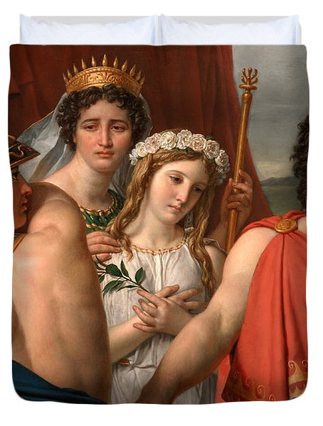 The Anger Of Achilles Duvet Cover by Jacques-Louis David