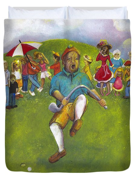 The Angry Golfer  Duvet Cover