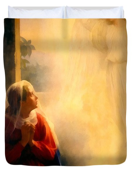 The Annunciation Duvet Cover by Carl Bloch
