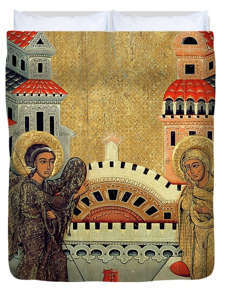 The Annunciation Duvet Cover by Fedusko of Sambor