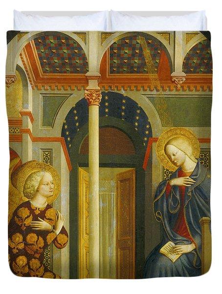 The Annunciation Duvet Cover by Tommaso Masolino da Panicale