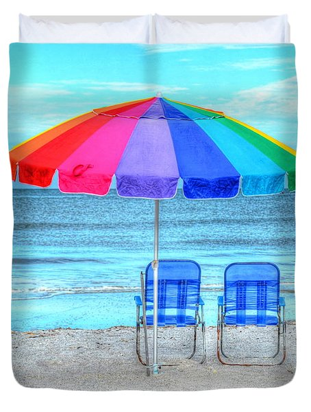 The Answer To Prozac Duvet Cover by Debbi Granruth