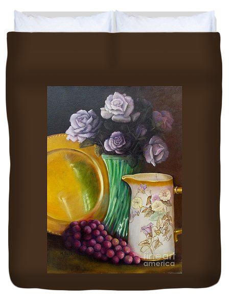 The Antique Pitcher Duvet Cover by Marlene Book