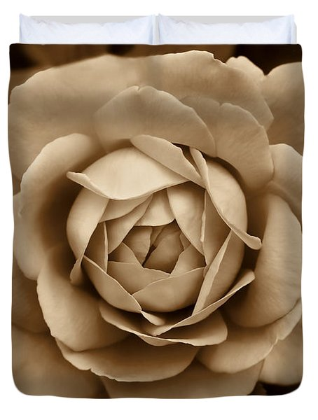 The Antique Rose Flower Duvet Cover