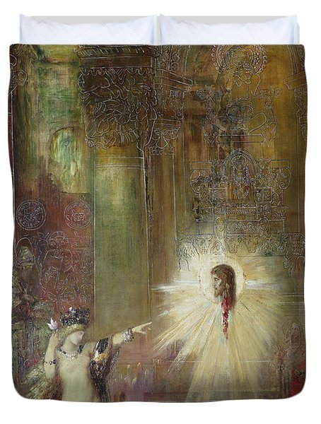 The Apparition Duvet Cover by Gustave Moreau