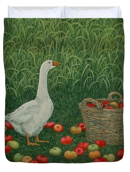 The Apple Basket Duvet Cover by Ditz