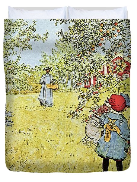 The Apple Harvest Duvet Cover