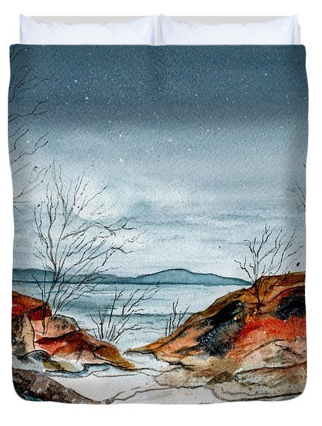 The Approaching Evening Duvet Cover by Brenda Owen