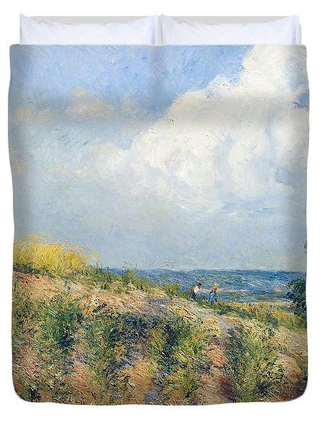 The Approaching Storm Duvet Cover by Camille Pissarro
