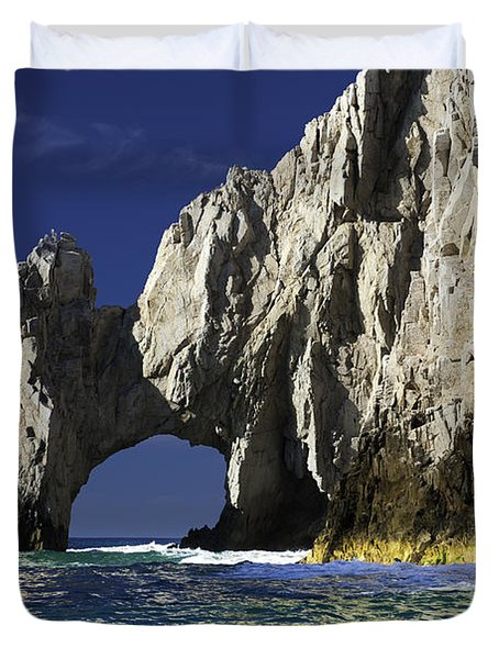 The Arch Cabo San Lucas Duvet Cover by Sebastian Musial
