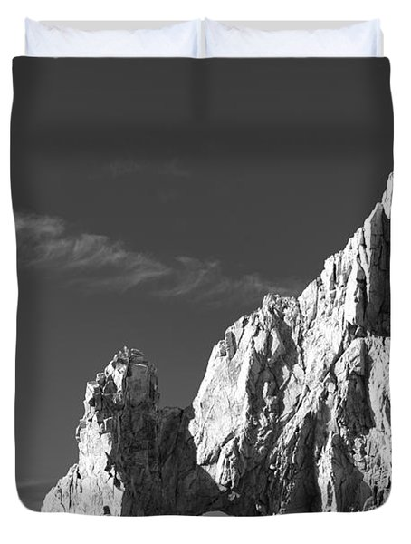 The Arch In Black And White Duvet Cover