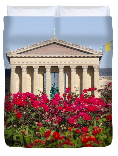 The Art Museum In Summer Duvet Cover by Bill Cannon