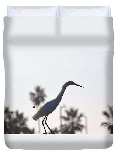 Duvet Cover featuring the photograph The Art Of Fishing by Laurie Lundquist