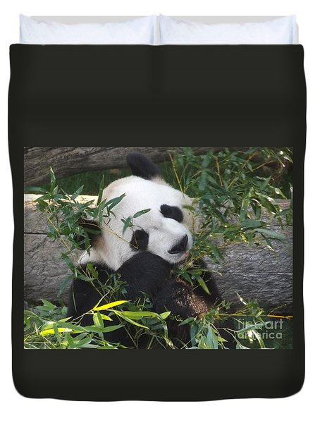 The Art Of Posing At Breakfast Duvet Cover by Lingfai Leung