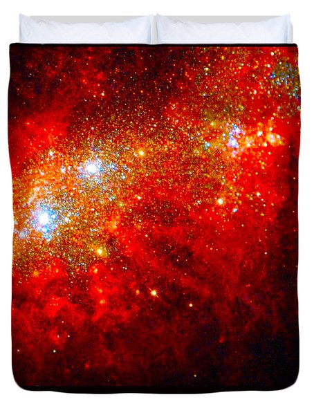 The Art Of The Universe 309 Duvet Cover by The Hubble Telescope