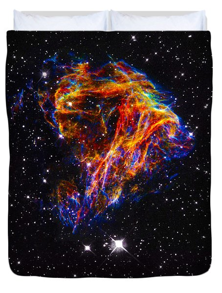 The Art Of The Universe 310 Duvet Cover by The Hubble Telescope