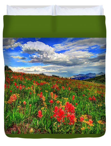The Art Of Wildflowers Duvet Cover