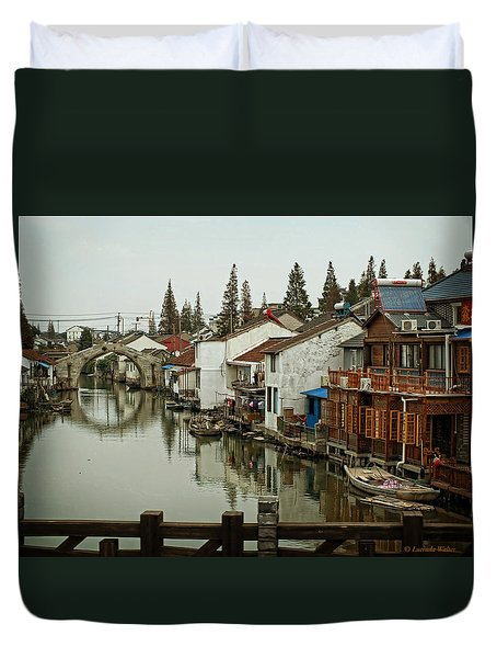 The Asian Venice  Duvet Cover