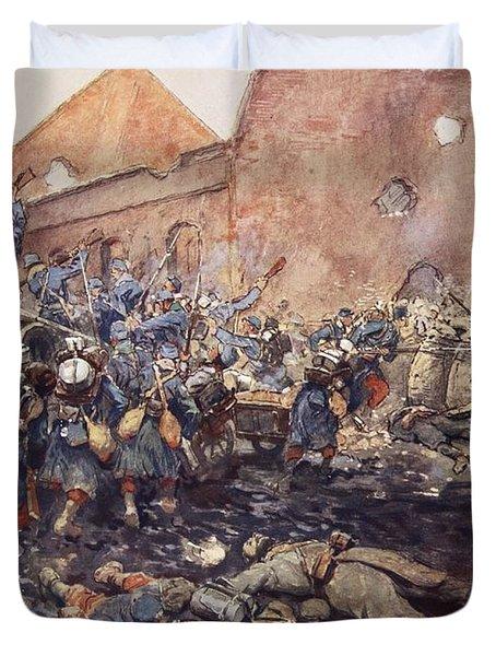 The Assualt Of Vermelles, 1915 Duvet Cover